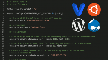 vagrant recipe for Drupal and WordPress