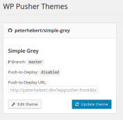 Manually update a theme from the WP Pusher Theme settings page